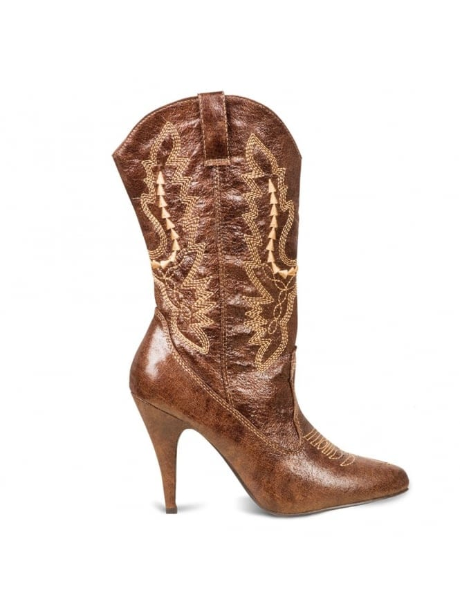 Ladies Fancy Dress Cowgirl Boots