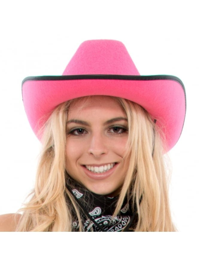 Hen Party Pink Cowgirl Hat With Diamante Jewels