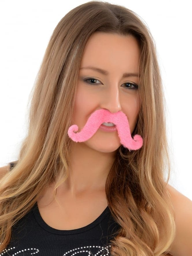 Stick On Pink Moustache Tash