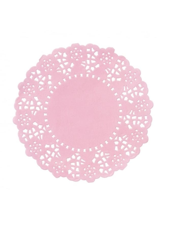 Mini Paper Doilies Pink Pack Of 100