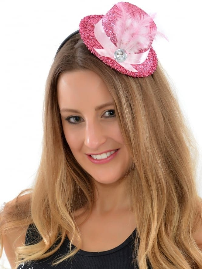 Hen Night Party Pink Mini Fascinator Hat On Headband