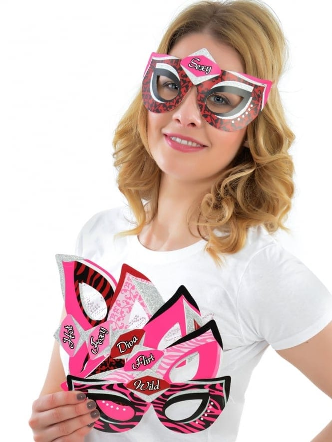 x6 Hen Party Masks With Fun Slogans