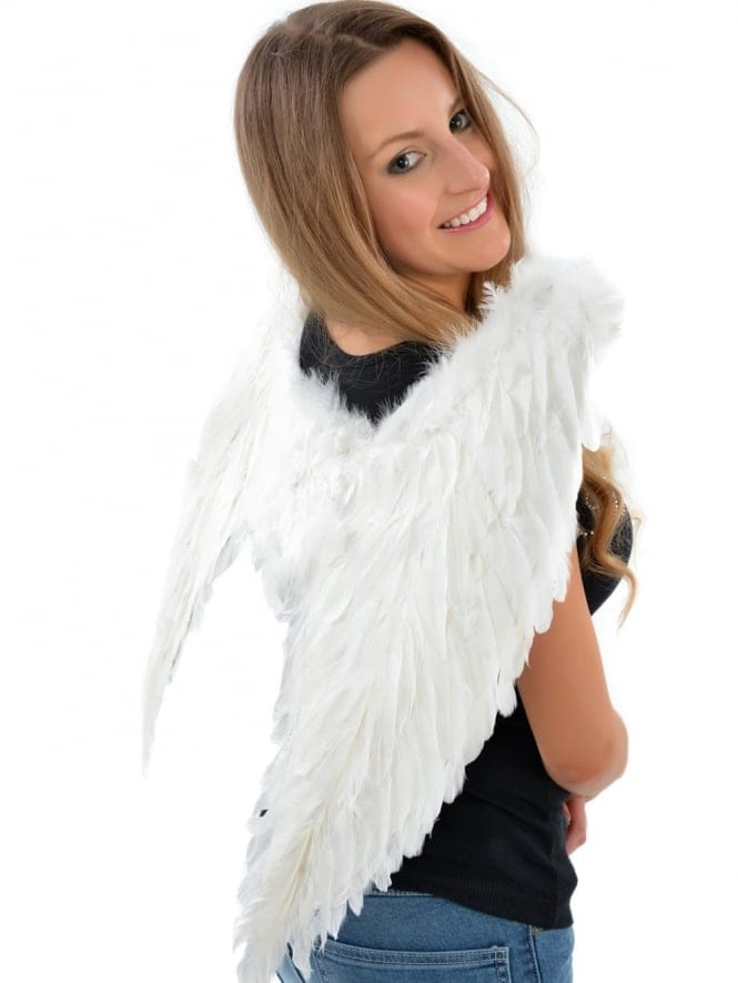 Hen Party Fancy Dress Large White Feather Angel Wings