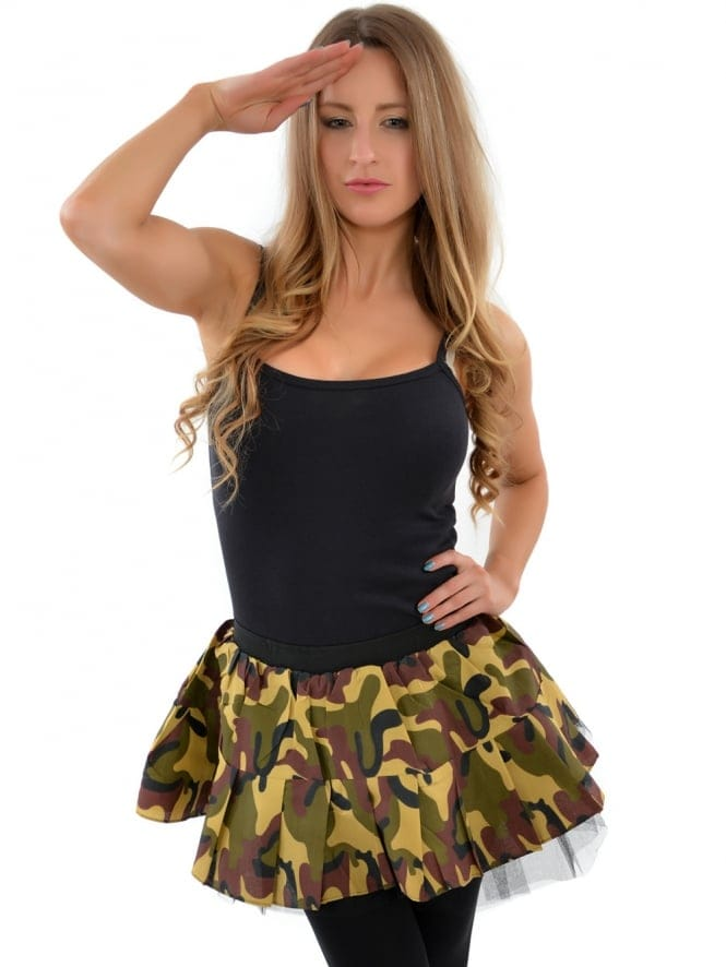 Army Camo Fancy Dress Tutu Skirt