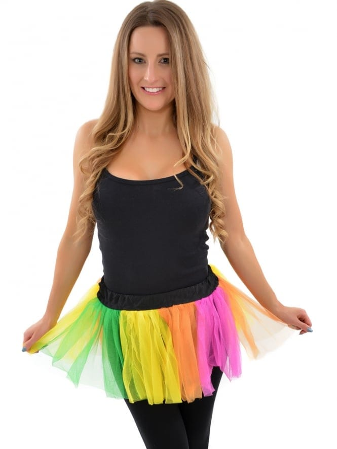 80's Multi-coloured Fancy Dress Tutu Skirt