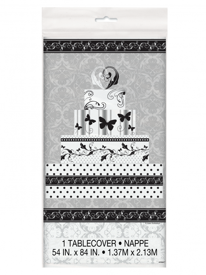 Bridal Shower Tablecover Silver