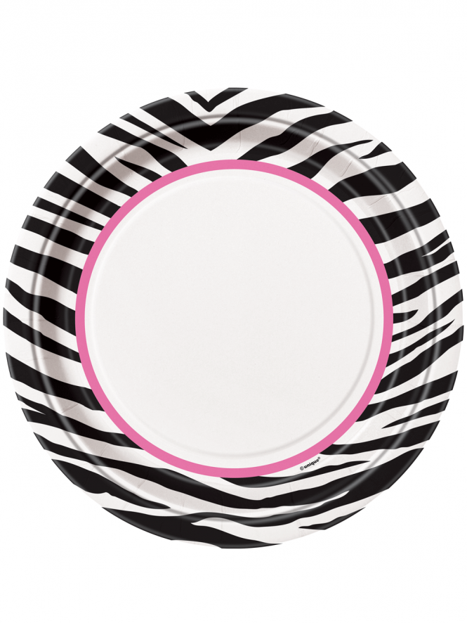 "Zebra 9"" Plates Pack Of 8"