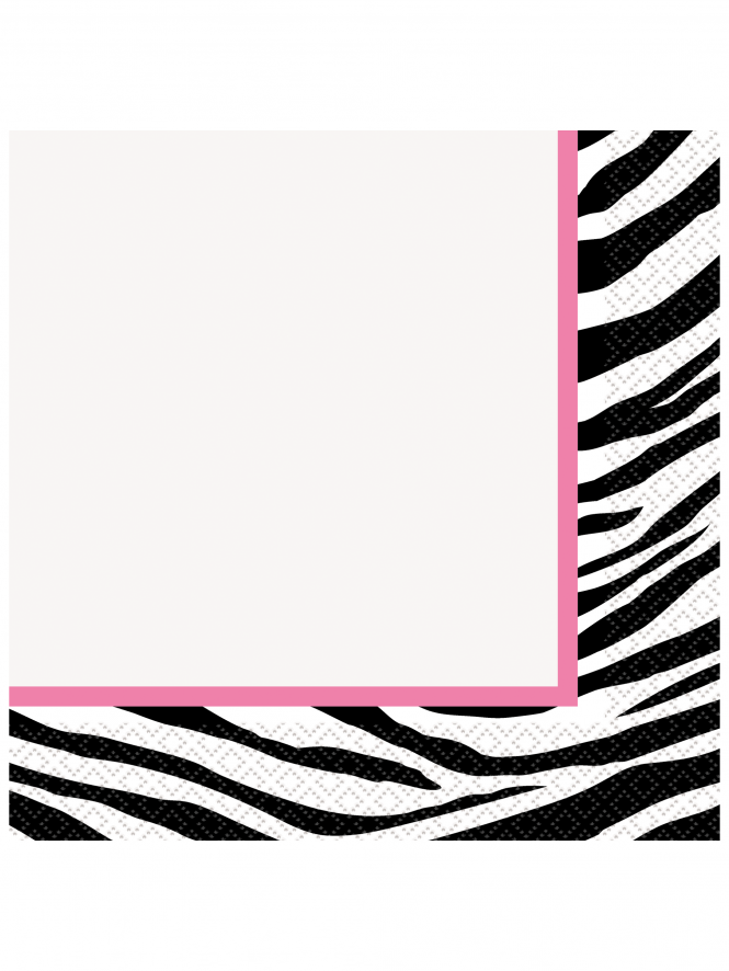 Zebra Print Hen Party Lunch Napkins (Pack of 16)