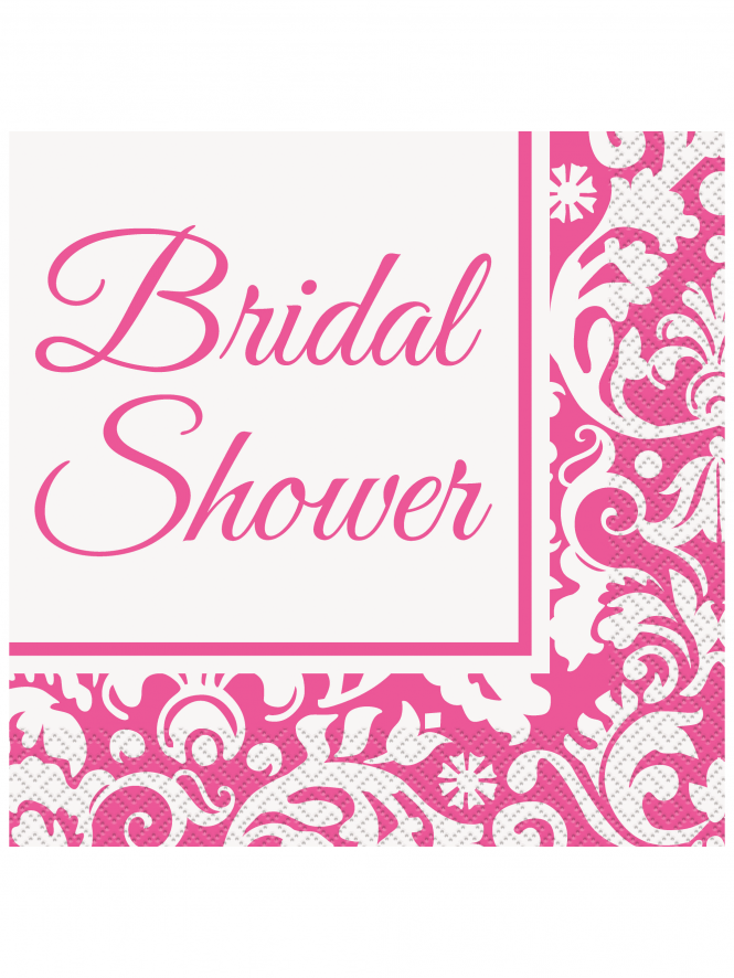 x16 Bridal Shower Damask Pattern Napkins