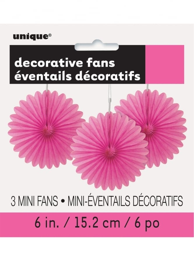 "Fans 6"" Hanging Decoration Pack Of 3"
