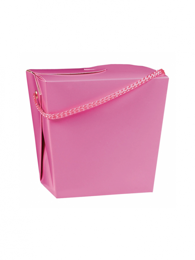 Pail Style Box With Handle Pink