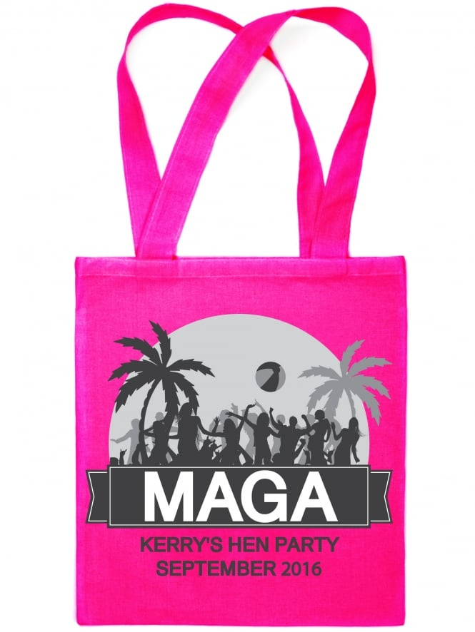 Beach 'Maga' Holiday Hen Night Party Personalised Tote Bags