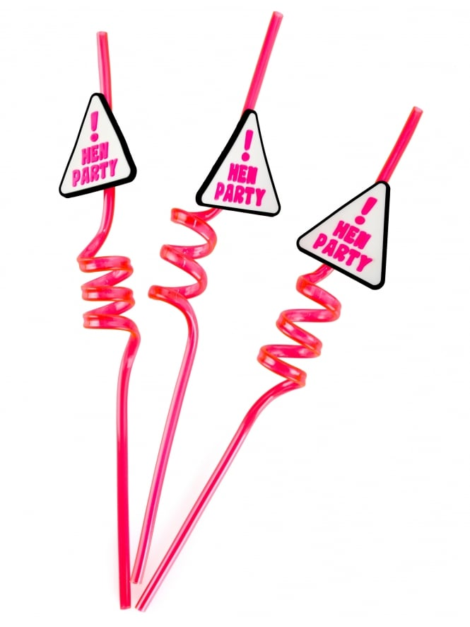 Novelty Hen Party Drinking Straws (Pack of 3)