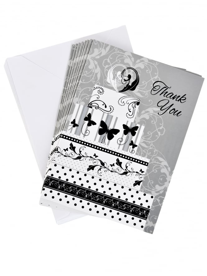 Bridal Shower Thank You Card Silver