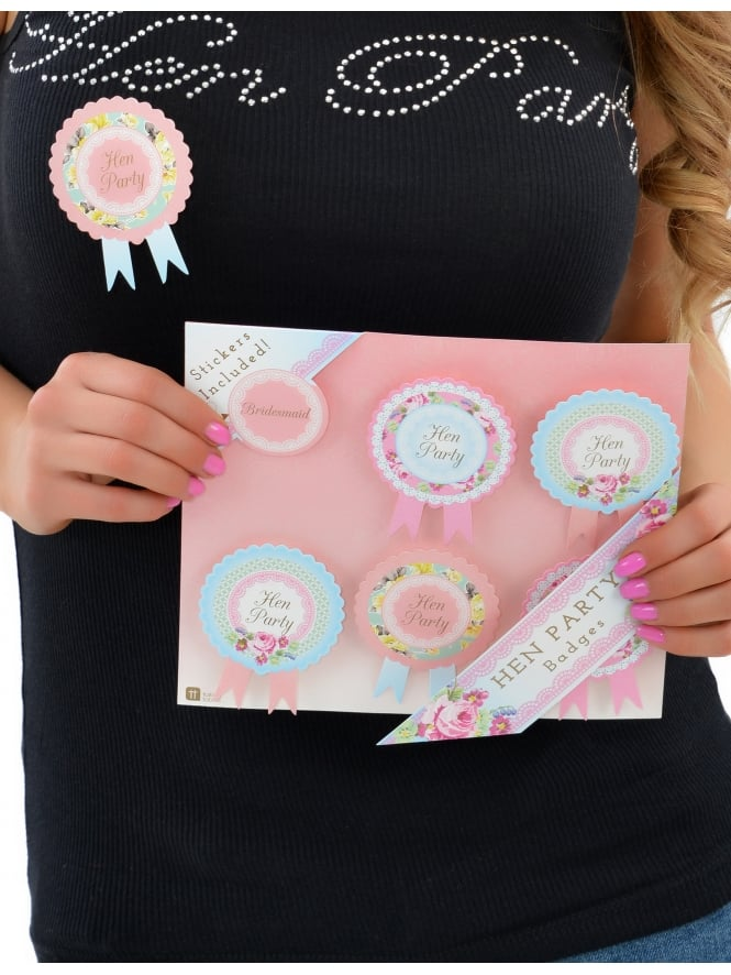 Vintage Hen Party Rosettes