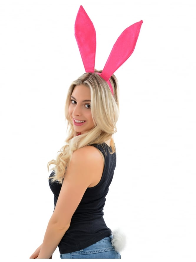 Hen Party Fancy Dress Pink Bunny Girl Set x3 Pieces