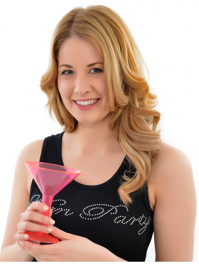 Pink Hen Party Disposable Cocktail Glasses (Pk Of 10)