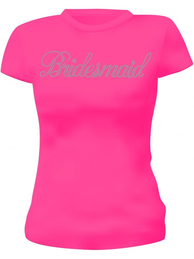 Bridesmaid Diamante Hen Party T-Shirts Hen Night T-Shirts