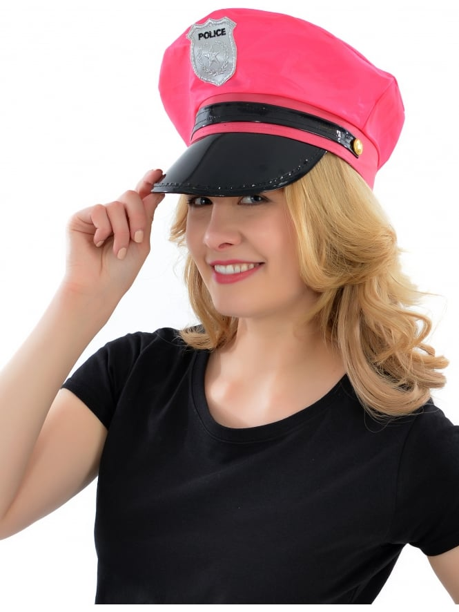 Hot Pink Policewoman Hat