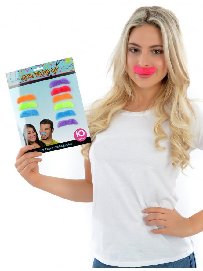 Hen Party Fancy Dress Game Moustache Kit