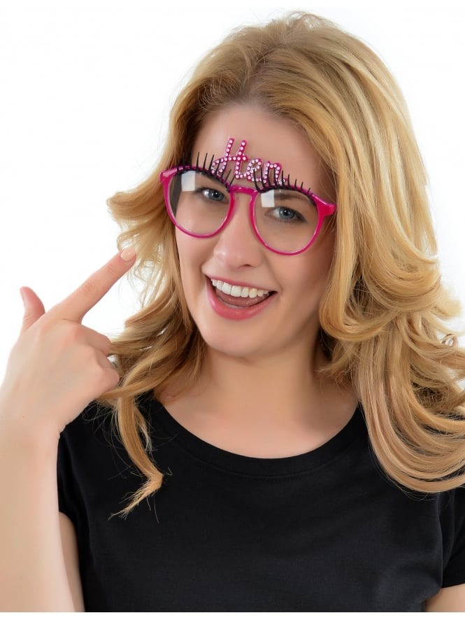 Hen Party Glasses With Eyelashes