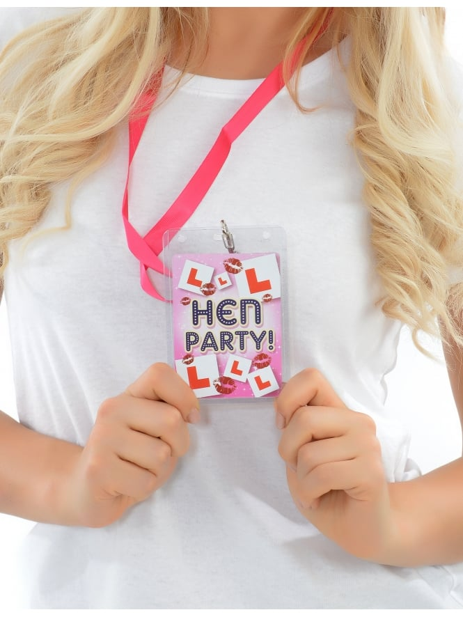 Hen Party Pass On Lanyard