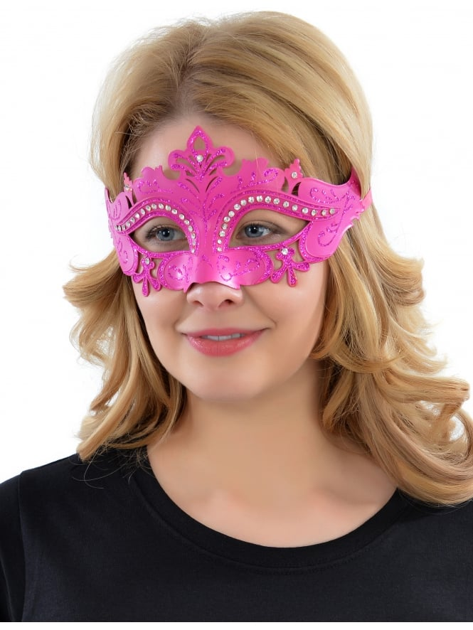 Glitter Hen Party Eye Mask Pink