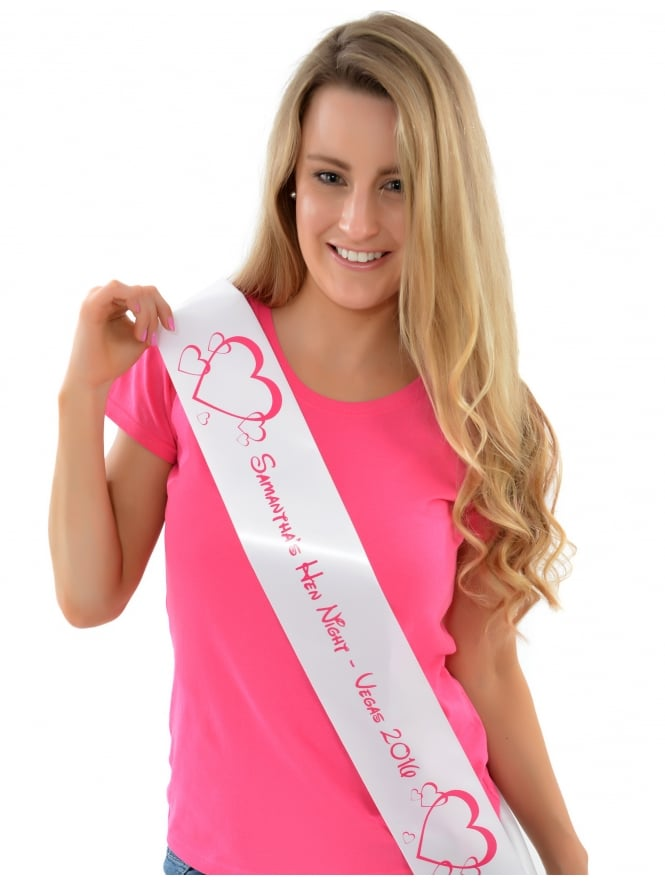 Fun Princess Style Hen Party Personalised Sash