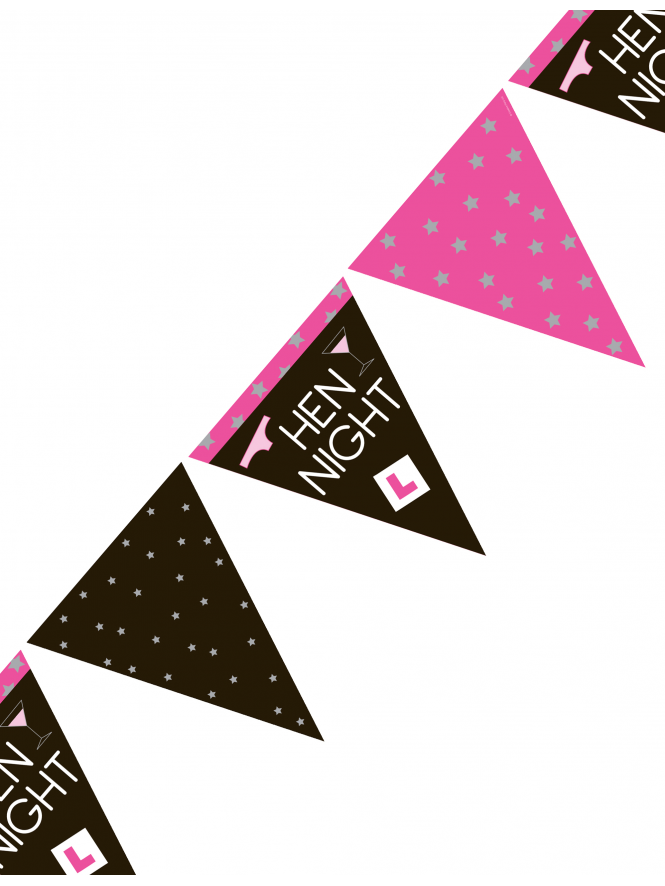 Hen Night Party Bunting Decoration