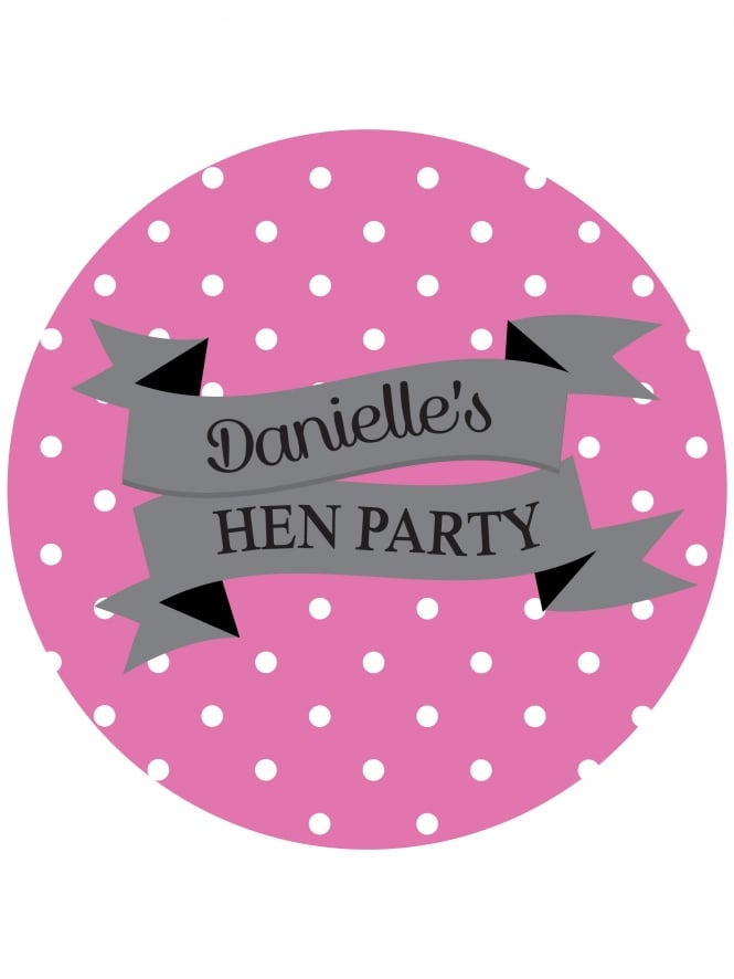 Banner Hen Party Personalised Stickers (Pack of 10)
