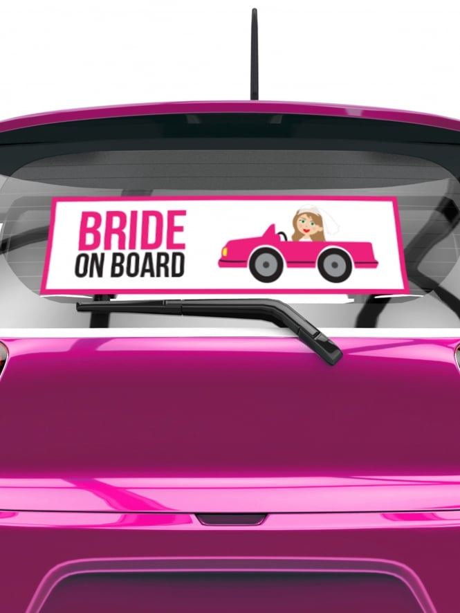 Bride On Board Hen Party Rear Car Window Sticker