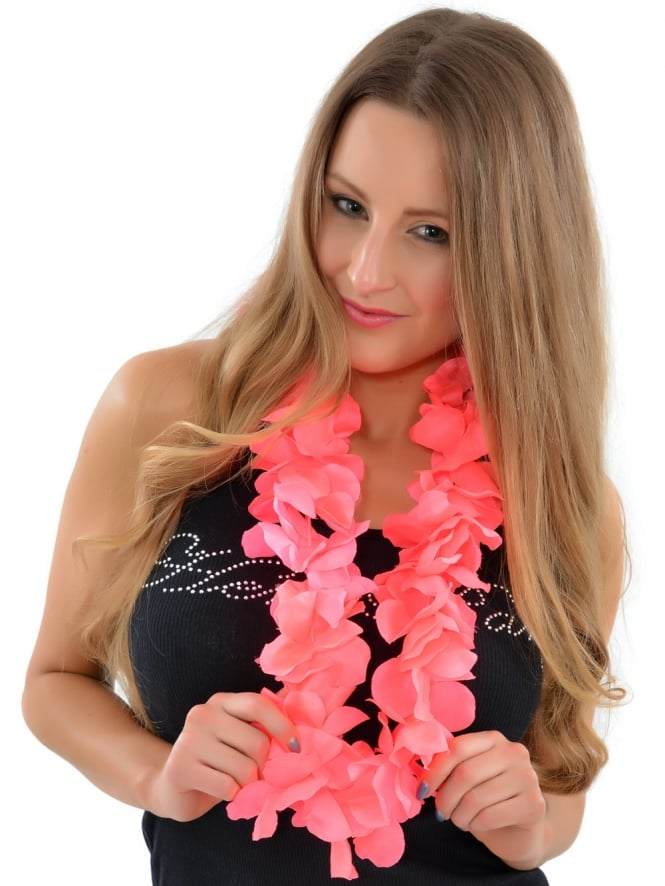 Pink Hawaiian Fancy Dress Lei