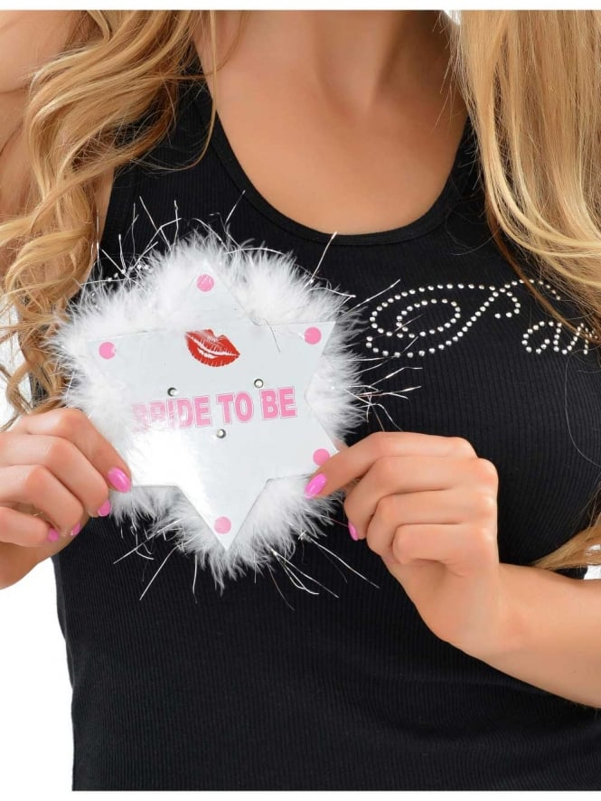Flashing Bride To Be Star Badge