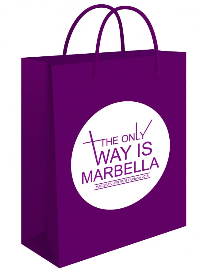 The Only Way Is ? Personalised Gift Bag Sticker To Apply