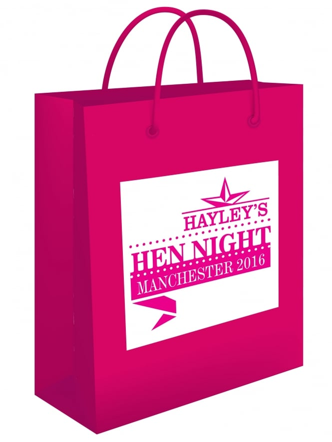 Star Design Personalised Hen Party Gift Bag