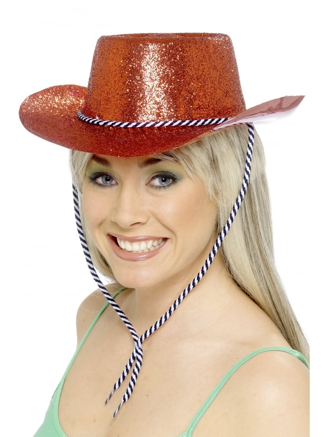 Cowgirl Glitter Hat Red