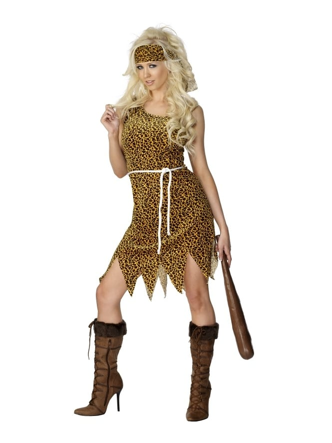 Ladies Cave Woman Costume