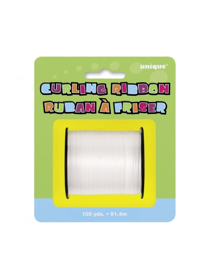 Hen Night Party White Curling Decorating Ribbon