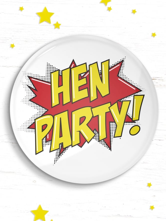 Hen Party Comic Badge