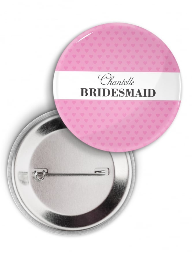 Personalised White Banner Hen Party Badge