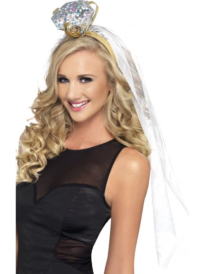 Hen Night Party Bride To Be Veil With Ring