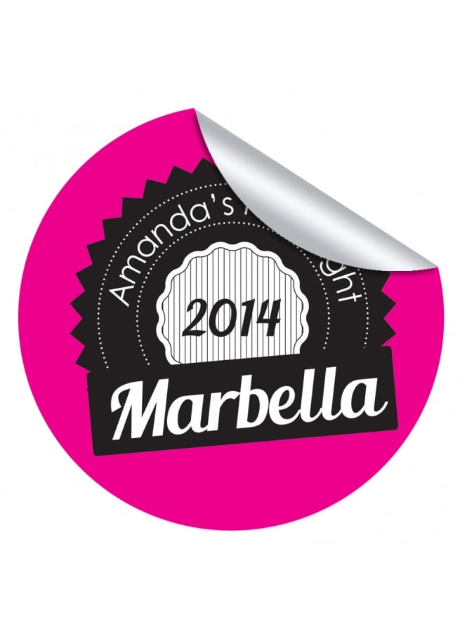 Marbella Personalised Hen Party Stickers (Pack of 10)