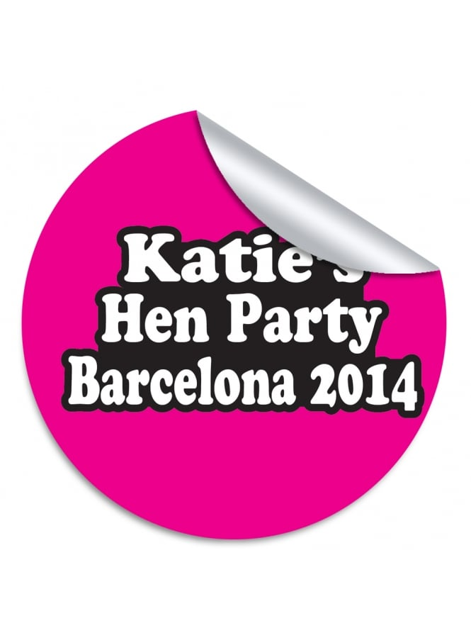 Katie's Personalised Hen Party Stickers (Pack of 10)