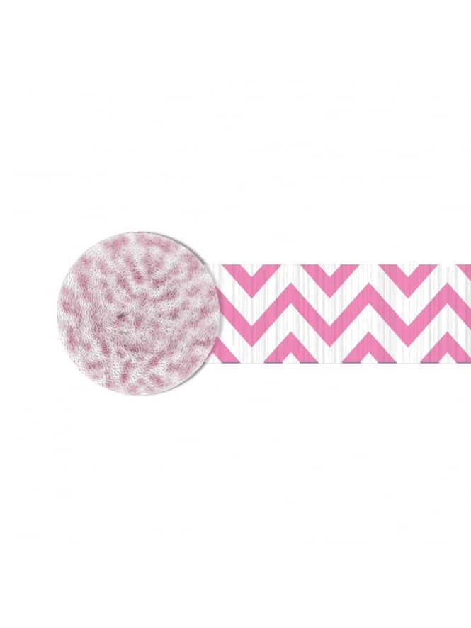 Chevron Paper Streamer Pink