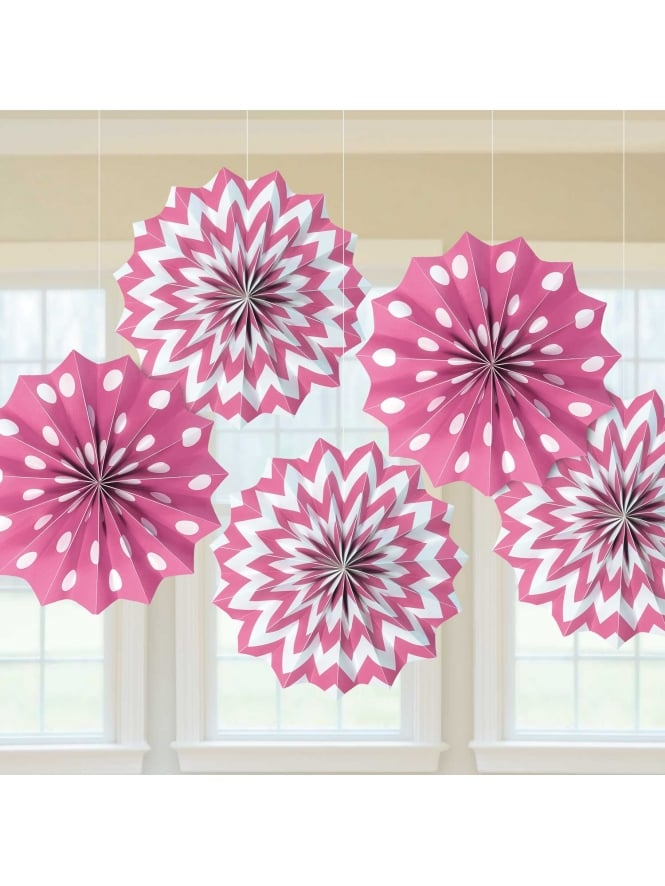 Paper Fans Hen Party Decorations (x5 Pieces)