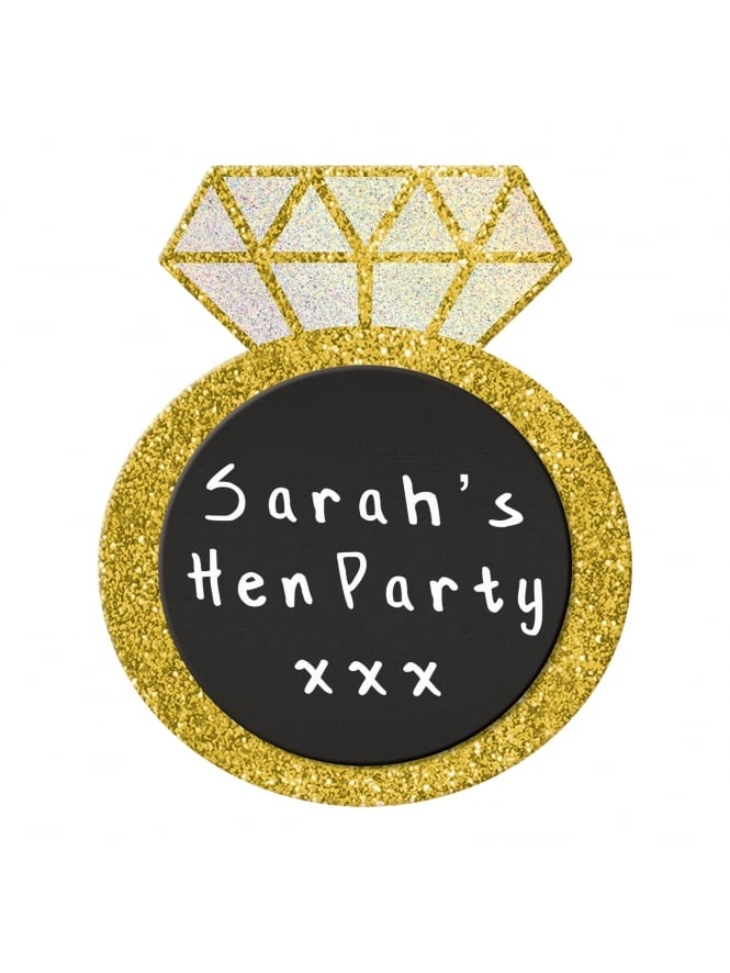Chalk Board Easel Hen Party / Wedding Gold