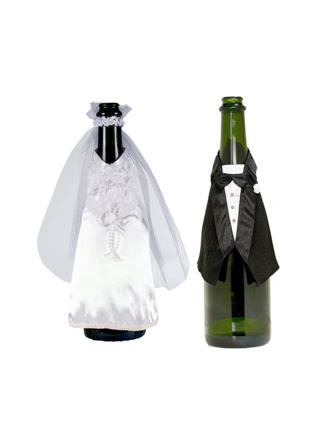 Bottle Bride and Groom Covers
