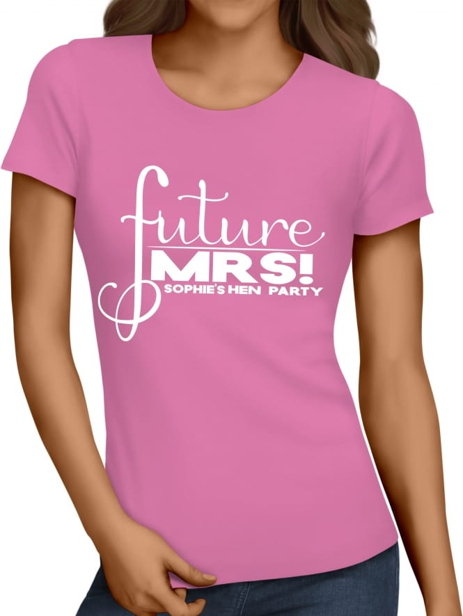 Hen Party Superstore Future Mrs Personalised Hen Party T-Shirt