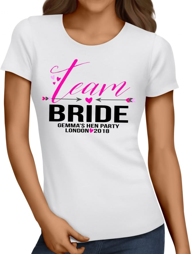 Hen Party Superstore Team Bride Personalised Party T-Shirt