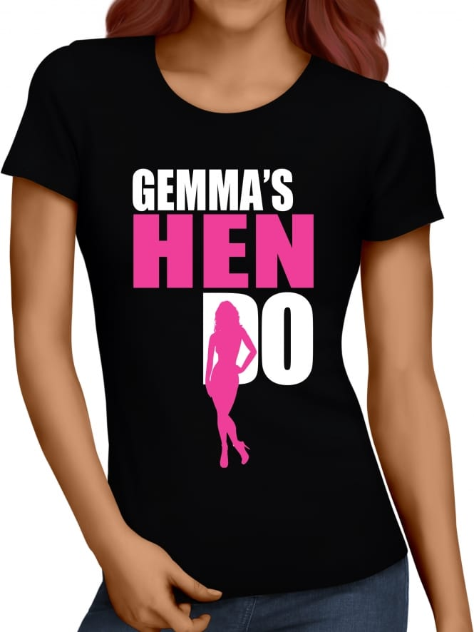 Hen Party Superstore Silhouette Hen Party T-Shirt